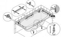 Hoesch Montage-Set für Badewannen,