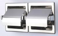 Geesa Hotel Collection Toilettenpapierhalter doppelt mit Deckel für den Einbau