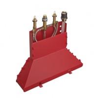 Hansgrohe Grundkörper 4-Loch Wannenarmatur für Wannenrandmontage mit Secuflexbox, 13444180