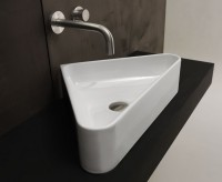 Axa one Serie Normal Aufsatzwaschtisch ohne Hahnloch, B: 420, T: 420 mm, weiss glänzend