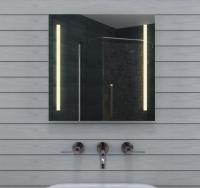 Neuesbad LED Badezimmerspiegel, Lichtfarbe wählbar, B:600, H:600 mm