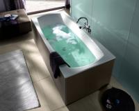 Villeroy & Boch Badewannenverkleidung United, freistehende Version, UFXX, Farbe: Oak Graphite