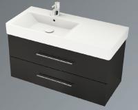 Neuesbad System 1 Waschplatz Komplett-Set, asymetrisch links, B:1000, T:450, H:580 mm