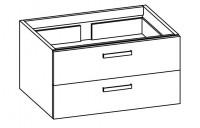 """Artiqua COLLECTION 413 Waschtischunterschrank zu """"iCon""""124190 B:850mm 2 Auszüge"""