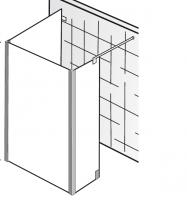 HSK Walk In Atelier Pur AP.74 1 Glaselement + Seitenwand + Seitenteil