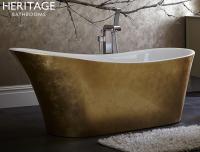 Heritage Freistehende Acrylbadewanne Holywell 1710 x 745 mm Goldeffekt