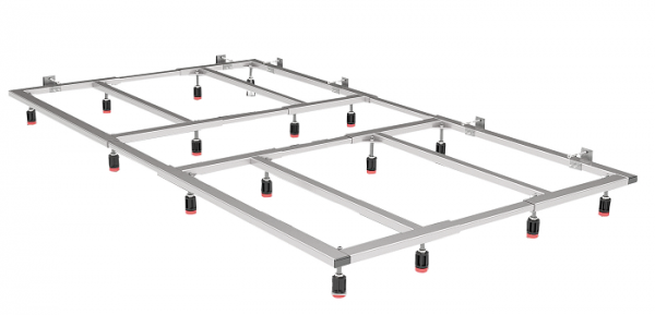 Fiora Montagegestell für Silex Duschwannen, für Duschwannenlänge von 101 bis 150 cm
