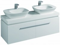 Keramag Waschtischunterschrank Silk 816042, 1400x400x470mm Weiß Hochglanz, Y816042000