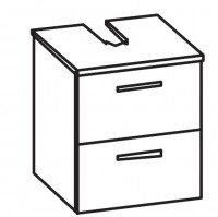 ARTIQUA 400 Universalwaschtischunterschrank mit 2 Auzügen, B: 45,4 H: 49,2 T: 38,3 cm Front: anthraz