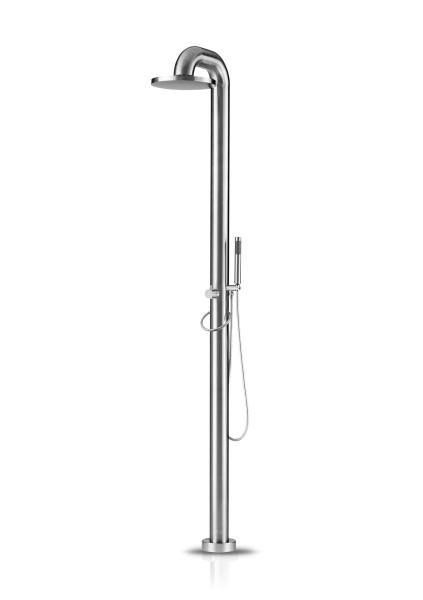 JEE-O fatline shower 02 freistehende Dusche, edelstahl gebürstet, 200-6210