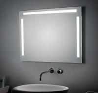 KOH-I-NOOR T5 Spiegel mit Ober- und Seitenbeleuchtung, B: 140 cm, H: 80 cm