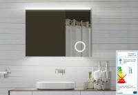 Neuesbad LED Lichtspiegel mit Schminkspiegel, B:800, H:600, T:25 mm