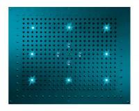 Bossini Kopfbrause Dream Flat RGB Cromotherapie mit 8 LEDs B: 570 T: 470 mm