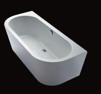 Repabad Livorno 180/80 oval F Wand-Badewanne, L: 1800, B: 800, H: 585 mm, weiss