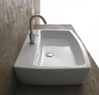 Axa one X-Tre Waschtich/Aufsatzwaschtisch B: 500, T: 480, H: 160 mm, weiss, mit 1 Hahnloch