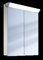 Schneider Spiegelschrank Faceline 60/2/FL, 1x24W+1x14W 600x750x120 alueloxiert, 152.061.02.50
