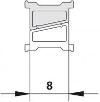 Kermi 6310 1x Magnetleiste, Länge: 2000 mm weiss, 6002713