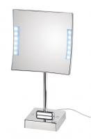KOH-I-NOOR Quadrololed 62/1 Vergrößerungsspiegel 3-fach 20x20 cm mit LED Tischmodell