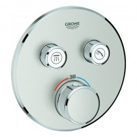Grohe Thermostat Grohtherm SmartControl 29119 rund FMS 2 Absperrvent. supersteel, 29119DC0