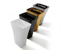 Globo RELAIS Freistehender Monolith-Waschtisch B:60, T:41, H:85cm, Bodenablauf, REM61BI, weiss glänz