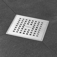 "Aqua Edelstahl 15x15 cm, ""Abdeckung , Edelstahl gebürstet"", MSI3 senkr DN 50"