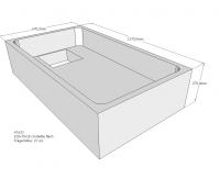 Neuesbad Wannenträger für Bette flach 120x70x15