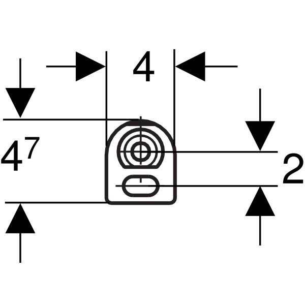 Geberit Duofix System-Bausatz für für Vorwandmontage