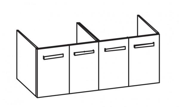 Artiqua 414 Waschtischunterschrank für Vivia 4143D1, 4143D4 Weiß Hochglanz, 414-WU4T-V163-7016-68