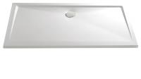 HSK Marmor-Polymer Rechteck Duschwanne 80 x 120 x 3,5 cm, weiss, ohne Schürze