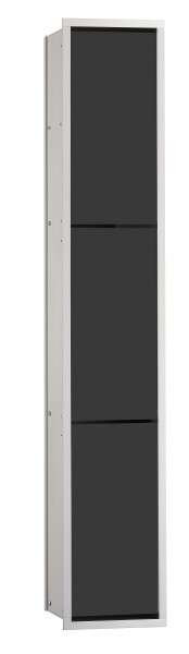 Emco asis WC-Modul (150), Unterputz, 964mm, ohne Einbau-Rahmen,alu/schwarz, 976027565