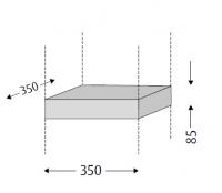 Sanipa Plattenmodul 2morrow PM02114, Pinie-Grau