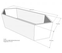 Neuesbad Wannenträger für Bette Starlet 210x80 6-Eck