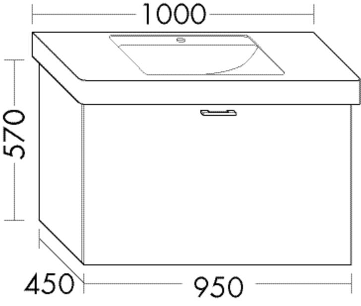 Image of Burgbad Waschtischunterschrank Sys30 PG3 570x950x450 Hellrot Matt, WTU955AF3353 WTU955AF3353