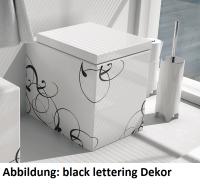ArtCeram Block Stand-Tiefspül-WC, B: 360, T: 490 mm, gold lettering Dekor