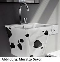 ArtCeram Cow Waschtisch/Aufsatzwaschtisch, B: 450, T: 450, H: 425 mm, schwarz weiss Dekor