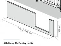 HSK Dobla Frontschürze, 170cm, für Einstieg links, 540172