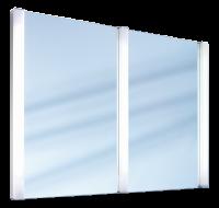 Schneider Lichtspiegel HSP/MOD 135/FL, 3x21W 1350x950x65 alueloxiert, 121.504.01.50
