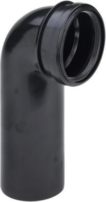 Viega WC Anschlussbogen 3816 in DN80 x 80mm Kunststoff schwarz