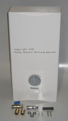Durchlauferhitzer Vaillant electronic VED E 24/7, 24 kW, elektronisch gesteuert, 0010007729 0010007729