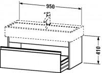 Duravit Waschtischunterschrank wandhängend Ketho T:440, B:950, H:410mm, KT6688
