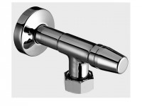 """Schell Wasserzähler-Eckventil 3/4"""" chrom mit 1""""ÜM mit Plombiervorrichtung"""