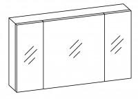 Artiqua COLLECTION 414 Spiegelschrank B:1330mm 3 Doppel-Spiegel-Türen