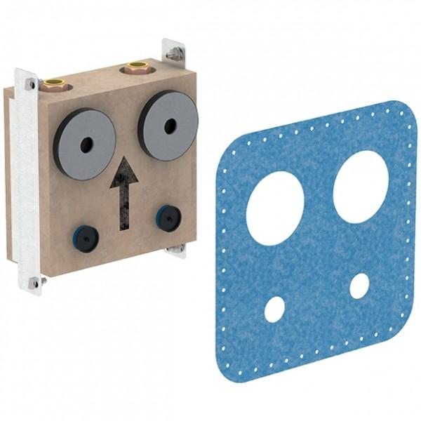 Geberit GIS Montageplatte mit 2 Wasserzähler- strecken mit UP-Absperrventil, 461131001