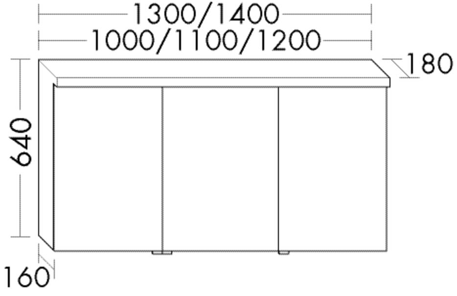 Image of Burgbad Spiegelschrank Sys30 PG2 640x1200x180 Tectona D. Zimt Rahmen, SPEQ120RF3425 SPEQ120RF3425