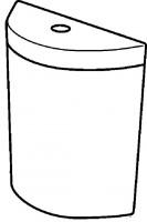 Keramag Keramik-Spülkasten Flow, 229950000, weiss