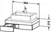 Duravit Konsole mit Schubkasten Fogo T:550, B:800, H:215mm, FO85210