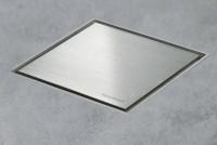 ESS Aqua Jewel Quattro 15x15 cm, Zero Edelstahl gebürstet, variable Sperrwasserhöhe von 50 bis 25 mm