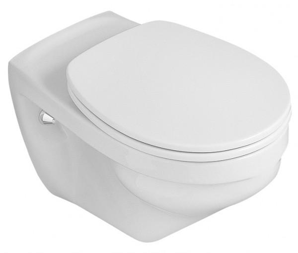 Neuesbad Wand-Tiefspül-WC, erhöht (6 cm), weiss, inklusive WC-Sitz mit Absenkautomatik