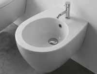 Globo Bowl+ Wand-Bidet, B: 380, T: 550 mm, mit 1 Hahnloch, weiss