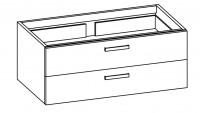 """Artiqua COLLECTION 413 Waschtischunterschrank zu""""iCon""""124120 B:1150mm 2 Auszüge"""